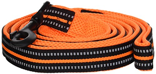 """Chai's Choice Pet Products 78"""" Best Padded 3M Reflective Outdoor Adventure Dog Leash, Large, Orange"""
