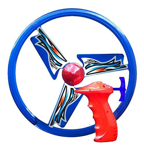 Paul Günther 1645 - Propellerspiel Power Spin, Flugspiel für Kinder ab 6 Jahren, Schnellstarter mit Powerzug, Rotor-Durchmesser ca. 26,5 cm