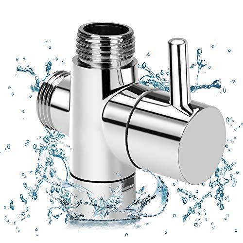 Linkax Válvula de 3 vías G1/2 Válvula desviadora Válvula de Adaptador Válvula de Ducha para recambio de sistema de ducha