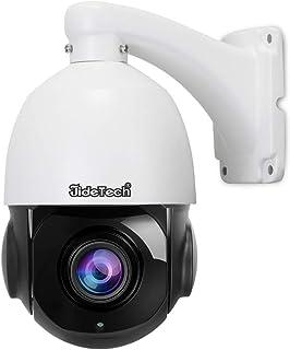Cámara IP PTZ PoE de Alta Velocidad: cámara Domo de 2.0 megapíxeles con Zoom 20X Prueba de Intemperie IP66 Exterior para vigilancia de Seguridad