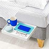BedShelfie L'étagère de Chevet d'origine - 9 Couleurs / 3 Tailles - comme VU sur Business Insider (Faire Glisser, Blanc)