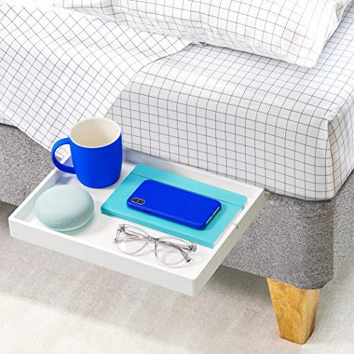 BedShelfie Slide Das Original Nachttisch Regal - 3 Farben / 3 Größen - GESEHEN AUF Business-Insider und Kickstarter (Slide, Bambus in Weiß)