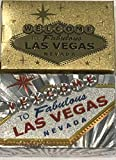 Las Vegas Welcome to Fabulous Sign Gold & Silver Foil Playing Cards