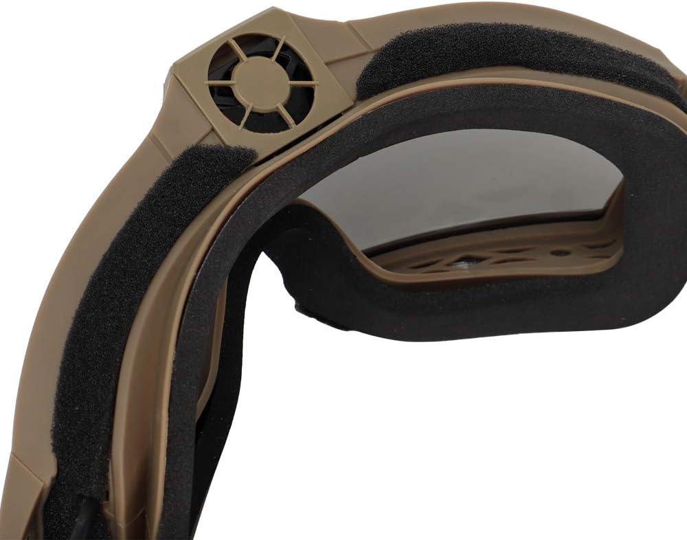Lejie Gafas Airsoft Gafas de Seguridad T/ácticas Gafas Militares Antiniebla con Sistema de Ventilador para Paintball Montar Tiro Caza Ciclismo Motocicleta