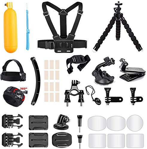 AKASO Sports Kamera 14 Zubehörteile in 1 Paket EK7000 Brave 4 Campark Vemont APEMAN VicTsizing WIMIUS