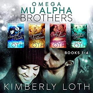 Omega Mu Alpha Box Set     Snowfall and Secrets, Pyramids and Promises, Folly and Forever, Monkeys and Mayhem, Books 1-4              By:                                                                                                                                 Kimberly Loth                               Narrated by:                                                                                                                                 Angela Rysk                      Length: 22 hrs and 17 mins     1 rating     Overall 5.0