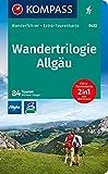 KOMPASS Wanderführer Wandertrilogie Allgäu: Wanderführer mit Extra-Tourenkarte 1:85.000, 84 Touren, GPX-Daten zum Download.