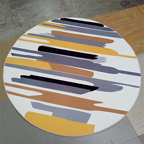 GJ Salon de style européen américain Chambre à coucher Rangement minimaliste moderne Carré de personnalité de la mode (taille : Diameter 80cm)
