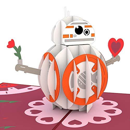 Lovepop Die Popup-Karte BB-8 Star Wars 3D gilt für Valentinstag und Glückwünsche