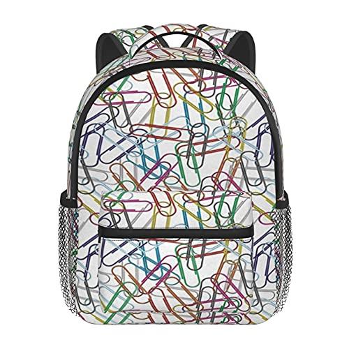 RTUBNSD Kinderrucksack Büroklammer Life Work Job, Kindergarten Vorschul Tasche Schultasche für Kleinkinder Mädchen Jungen