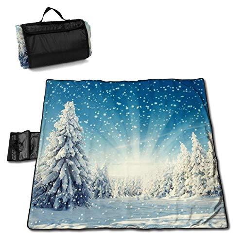 End Nazi Weihnachtsbaum Tischsets Winter Picknick Matte Pads Sandfreie tragbare Stranddecke Faltbarer Bodendecker Teppich