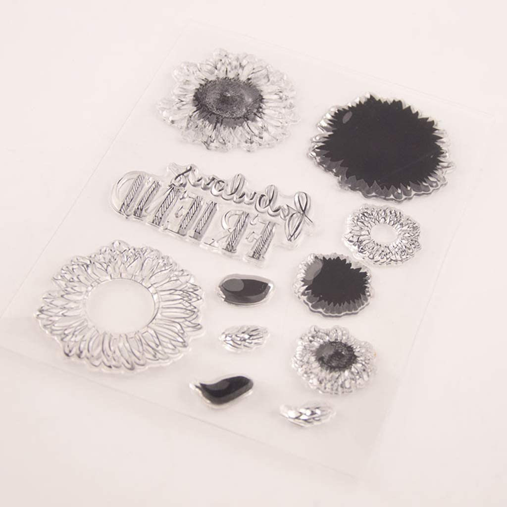 SIT.E Sunflower Max 63% OFF Seal Stamp with Cutting Max 50% OFF Dies Set DIY Stencil Scr
