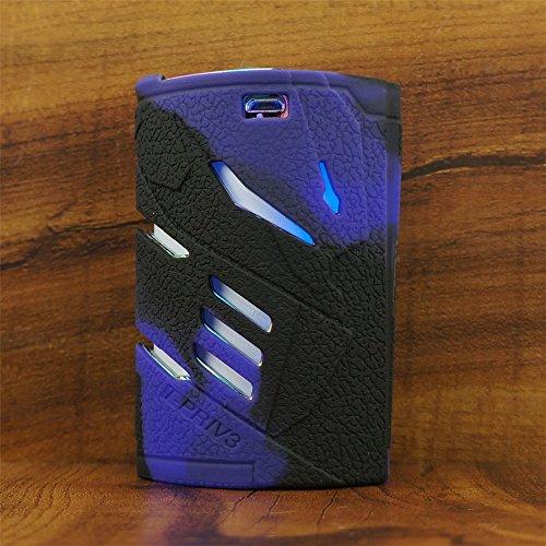 ModShield for Smok T-PRIV 3 300W TC Silicone Case ByJojo T PRIV3 Protective Cover Shield Skin Sleeve (Purple/Black)
