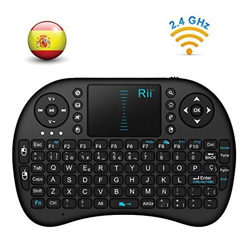 Este dispositivo es compatible con: PC, Smart TV Receptor USB (Wireless RF 2.4 GHz) incluido Batería de litio recargable con cable USB incluido Indicadores LED de nivel de batería, señal y de carga