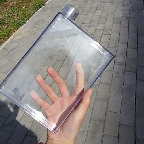 Taza de café de vidrio A5 plástico plástico cuaderno cuaderno cuaderno PC resistente a la taza de gota a prueba de fugas Botella de deportes plástica Botella de agua de plástico Hydro Frasco Durable y