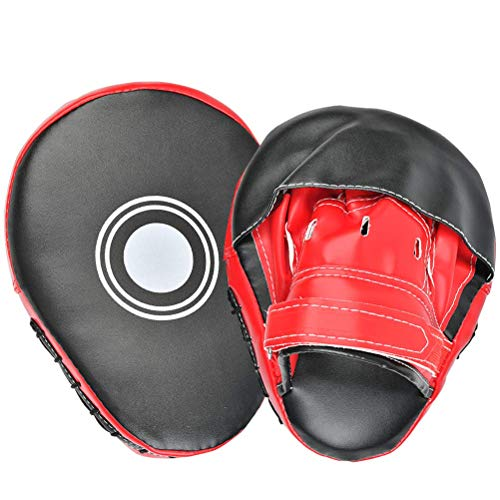 YOTINO Pratzen Trainerpratzen PU Handpratzen Pratze Kickboxen Boxen für Muay Thai Kickboxen Bewegung Karate Taekwondo Martial Art 1 Paar
