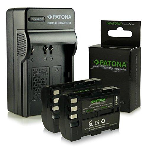 Bundle - 4en1 Cargador + 2x Premium Batería EN-EL3E para Nikon D50 | D70s | D80 | D90 | D200 | D300 | D300S | D700 [ Li-ion; 2000mah; 7.4V ]