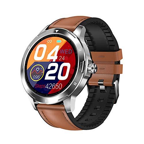 ZWW Multifunción De Smart Dial Reloj K15 Termómetro, Rastreador De Ejercicios Monitor De Ritmo Cardíaco Inteligente, Hombres De Smartwatch De Mujeres,E