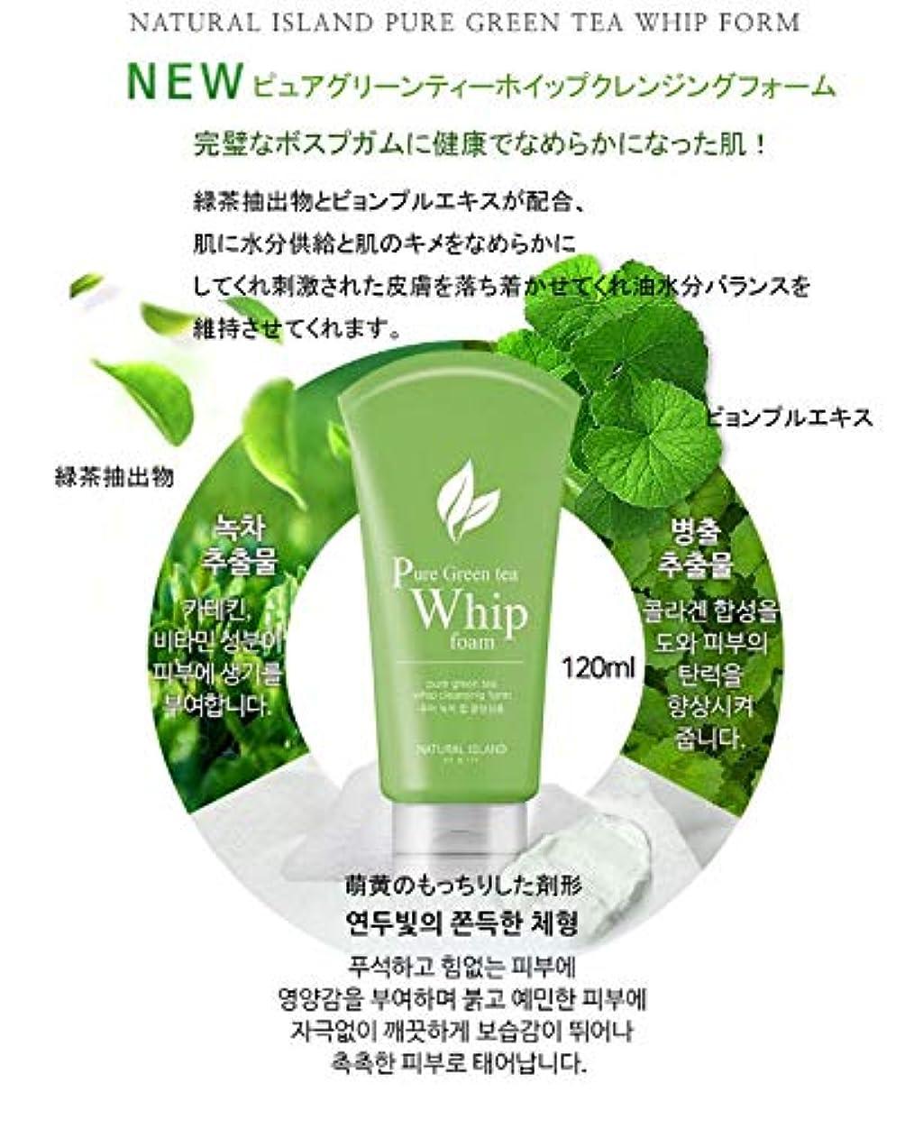 趣味リルポットNATURAL ISLAND CLEANSING FOAM カスタムクレンジングフォーム Pure Green Tea