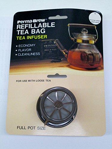 Perma Brew Refillanle Tea Bag Tea Infuser Full Pot Size
