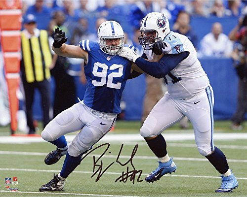Bjoern Werner Indianapolis Colts Autographed 8' x 10' vs. Tennessee Titans Photograph - Fanatics Authentic Certified