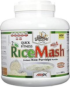 AMIX - Harina de Arroz Blanco - RiceMash Mr Poppers - 1500 Gr - Alimento Bajo en Grasa - Endulzado con Stevia - Ideal para Recetas Fitness - Alimentos Dieta Sin Azúcar