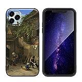 Berkin Arts Adriaen Van Ostade para el Caso del iPhone 11 Pro MAX/Estuche para teléfono móvil de Sil...