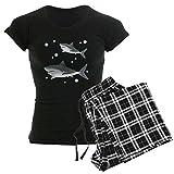 CafePress Shark Womens Novelty Cotton Pajama Set, Comfortable PJ Sleepwear
