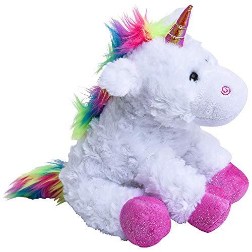WEUPE Unicorn Stuffed Animal, Unicorn Plush, Stuffed Unicorn, Rainbow Horse Toys, Pink Pony, Fluffy Soft Cute Unicorn, Pillow for Kids, Girls and Boys, 10 Inc Size