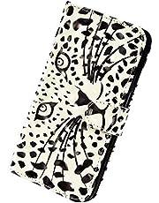 Herbests Funda Compatible con Samsung Galaxy S20 Plus - Carcasa Cartera de Cuero PU Flip Folio Carcasa Case Diseño Colores Funda Cierre Magnético y Soporte Plegable,Leopard