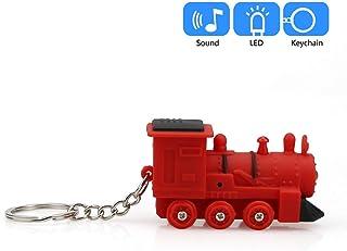 callm Cute Train Keychain with LED Light and Sound Keyfob Kids Toy Gift - Bag Purse Charm Key Chain - Fashion Accessory Gift