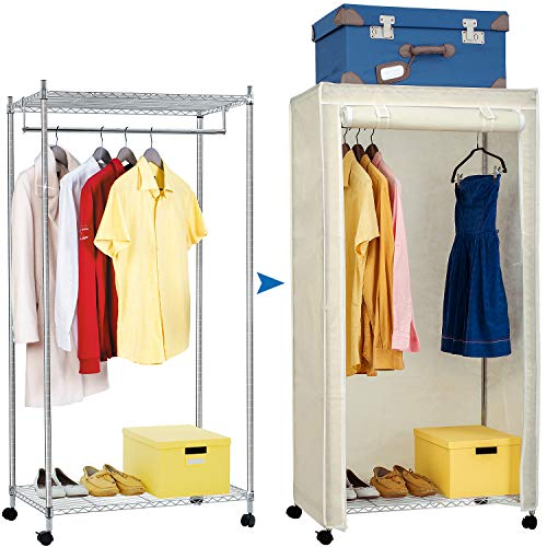 Artmoon Buffalo Heavy Duty Steel Clothes Rack Closet Storage...