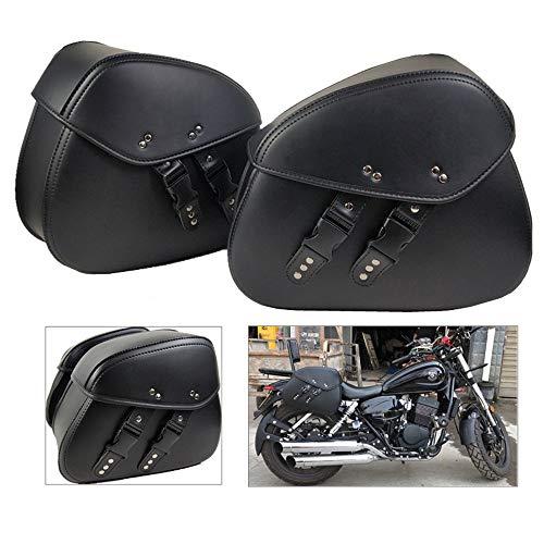 Motocicleta Moto Alforja de Cuero Equipo Organizador de Almacenamiento Asiento Paquete Alforja Impermeable Caja de Almacenamiento