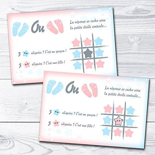 Carte à gratter jeu étoile annonce grossesse sexe bébé fille