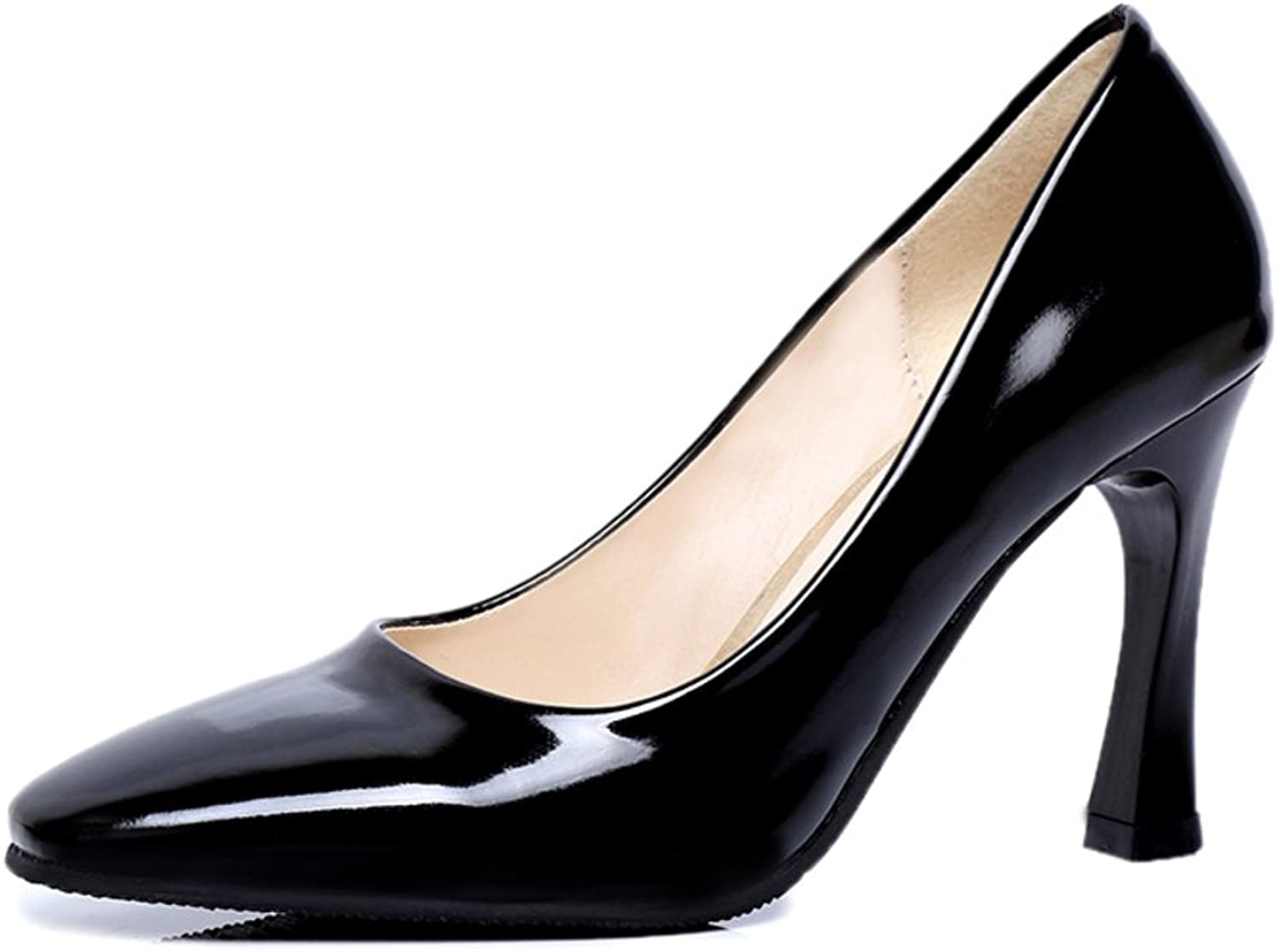 New square head professional womens shoes in spring Cone-shaped shallow mouth high heels