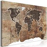decomonkey | Mega XXXL Bilder Weltkarte | Wandbild Leinwand 170x85 cm Selbstmontage DIY Einteiliger XXL Kunstdruck zum aufhängen | Landkarte Kontinente