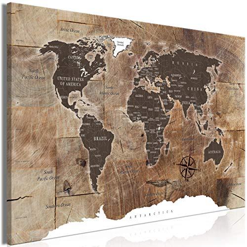 decomonkey | Mega XXXL Bilder Weltkarte | Wandbild Leinwand 165x110 cm Selbstmontage DIY Einteiliger XXL Kunstdruck zum aufhängen | Landkarte Kontinente