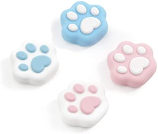 GeekShare Cat Paw Thumb Grip Caps,Compatible with Nintendo Switch & Switch Lite Only,Soft Silicone Joystick Cover,4PICS