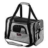 Aivituvin Pet Carrier for Dog and Cat,Soft Sided Collapsible Travel Bags for Small