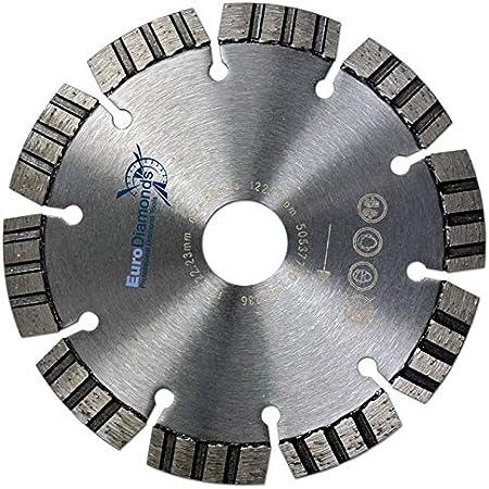 Premium Diamanttrennscheibe 125 mm mit Segmenten Profi Trennscheibe Beton Ziegel