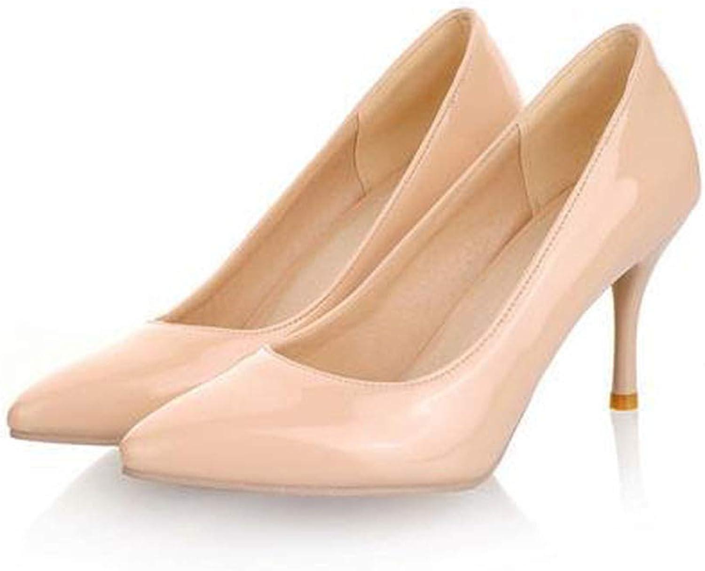 Axd-Home Big Size 34-46 high Heels Women Pumps Thin Heel Classic Ladies Wedding shoes