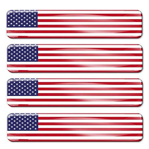 4 x sticker 3D gel siliconen stickers Verenigde Staten Amerika VS vlag vlag vlag autosticker F 27