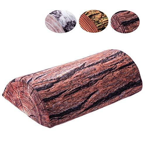 KADAX Halbrolle, Nackenrolle aus Schaumstoff, 40 x 21 cm, Kopfkissen mit waschbarem Bezug, Kissen für Bett, Nacken, Relaxkissen, halbrund, Lagerungsrolle, geeignet für Allergiker (Akazie)