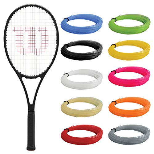 """Wilson Pro Staff 97 v13 Tennis Racquet (4 1/4"""" Grip) Strung with Yellow Synthetic Gut Racket String - Best Racquet for Power and Control"""