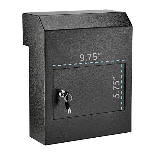 AdirOffice AdirOffice Door Drop Box - Through-The-Door Safe Locking Drop Box - Door Mail Slot (Black) Photo #4