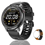 Lucakuins T30 (32.5mm, Bluetooth) Smart Call Watch, With Full Circle Full Touch Personalized Dial, Music Player/Wrist Phone/Heart Rate Monitor/Fitness Tracking/IP67 Waterproof