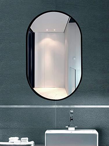 TMGY Modern Vanity Mirror for Living Room Bathroom Bedroom,Black Oval Mirror Wall -