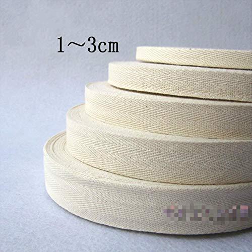 LLAAIT Katoen Webbing Tape Riem Stof Strap Bag maken Strapping 10mm-32mm Breedte Naaien Kleding Craft Decoratie 32mm 5yard