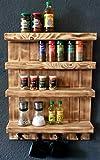 Dekorie Especiero de madera para la pared – flameado – 4 estantes – 65 x...