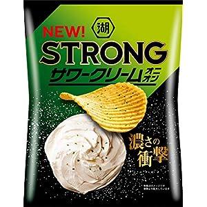 """湖池屋 KOIKEYA STRONGポテトチップスサワークリームオニオン 63g ×12袋"""""""